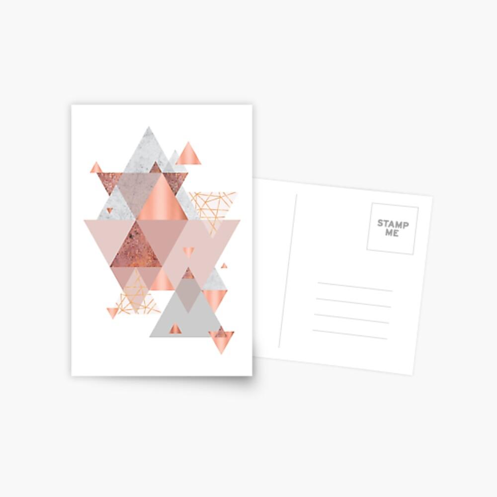 Erröten Rosa Geo Postkarte