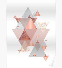 Erröten Rosa Geo Poster