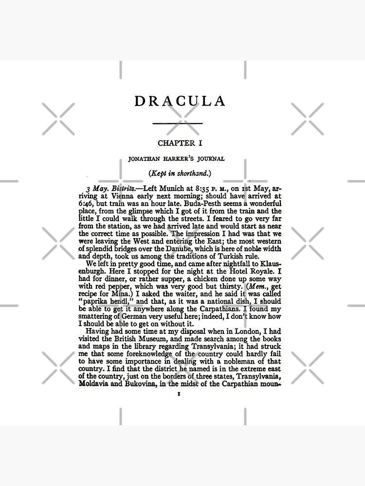 HIGH RESOLUTION Dracula by Bram Stoker first page by buythebook86