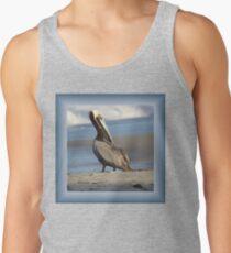 Oceanside Portrait of a Pelican Tank Top