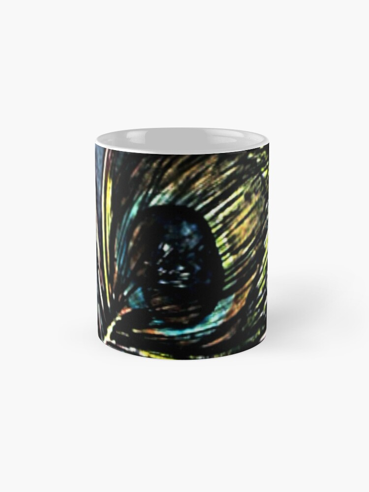 Alternate view of Peacock Abstract Mug