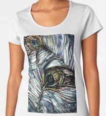 Peacock Abstract Premium Scoop T-Shirt