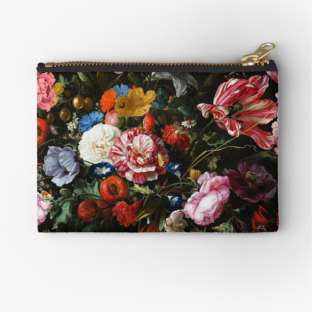 Dutch Midnight Garden Zipper Pouch