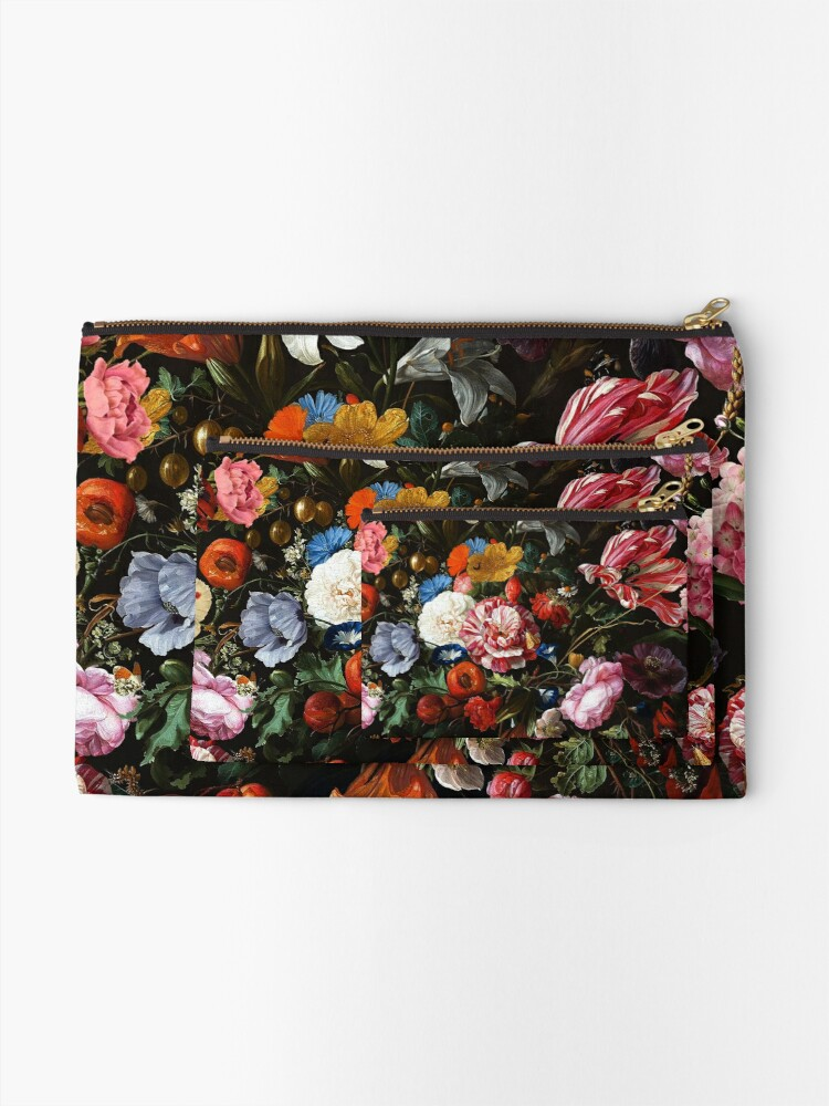 Alternate view of Dutch Midnight Garden Zipper Pouch