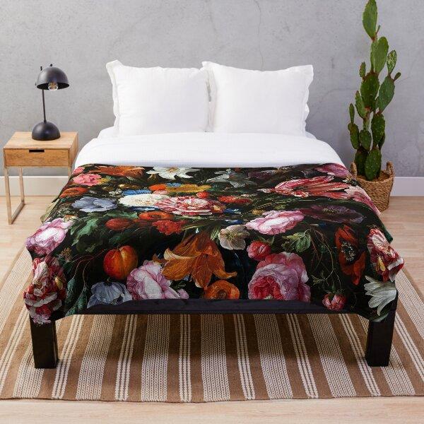 Dutch Midnight Garden Throw Blanket