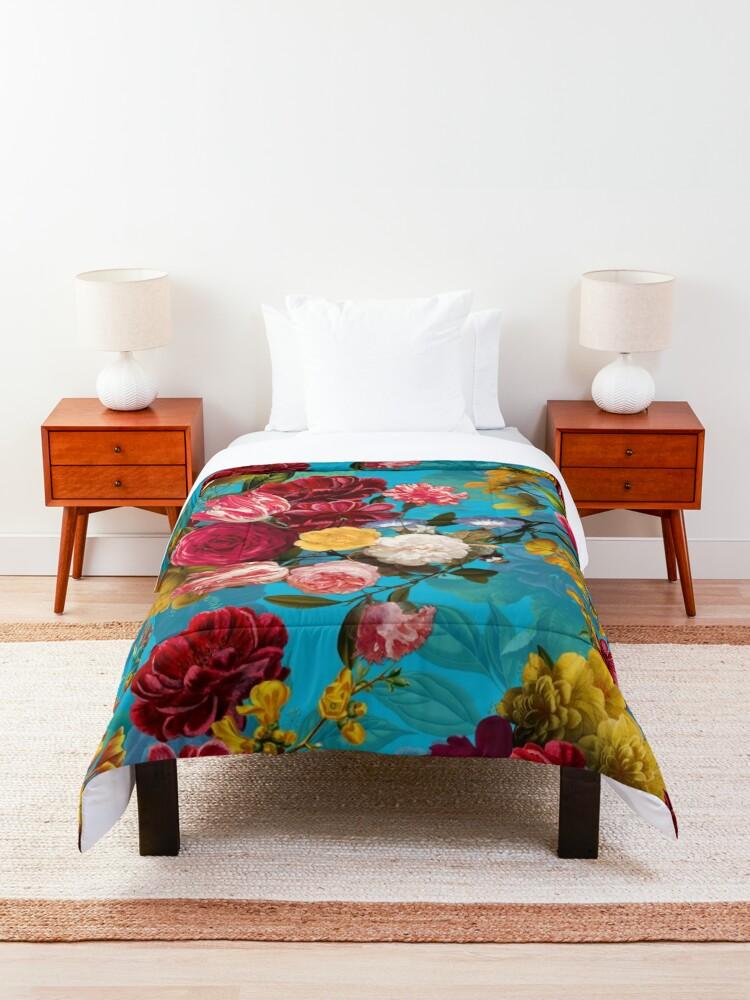 Alternate view of Moody florals - Mystic Night 7 Comforter