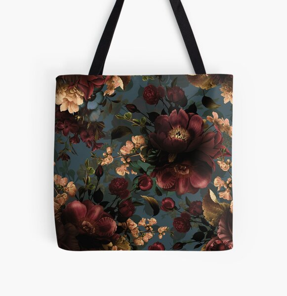 Moody florals - Mystic Night 10 All Over Print Tote Bag