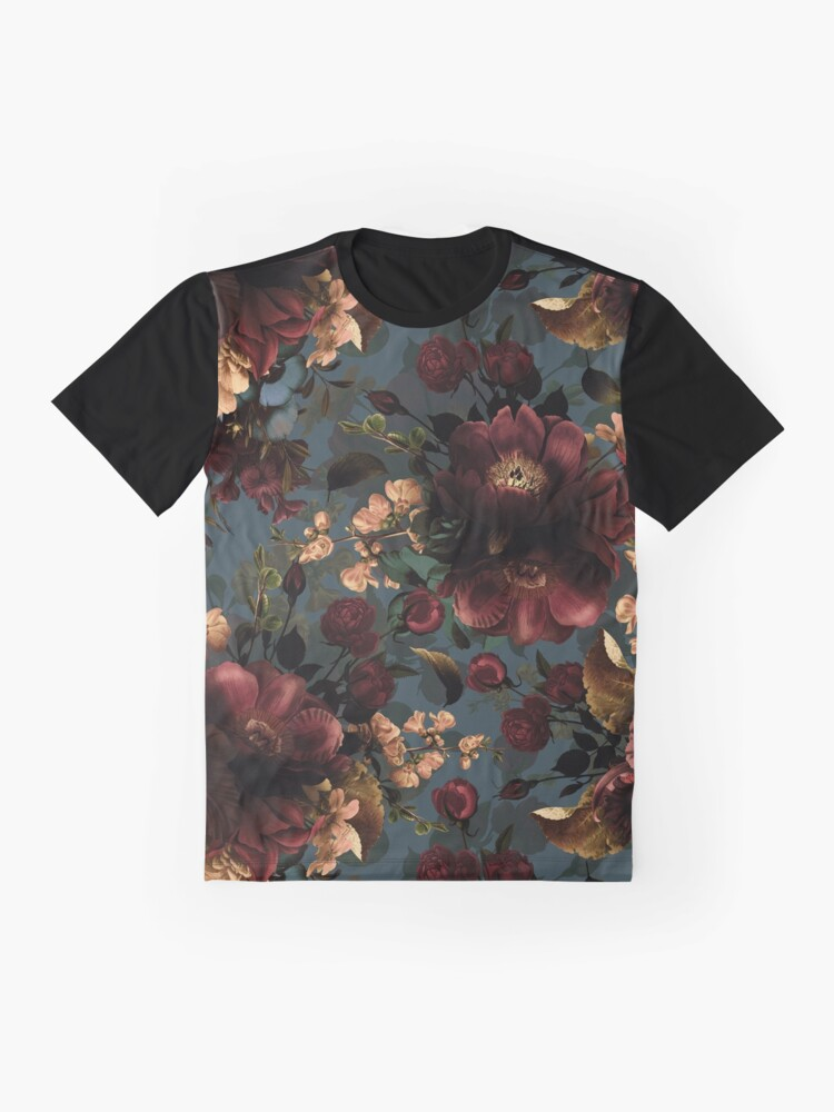 Alternate view of Moody florals - Mystic Night 10 Graphic T-Shirt