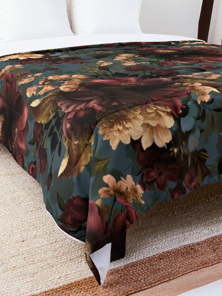 Alternate view of Moody florals - Mystic Night 10 Comforter