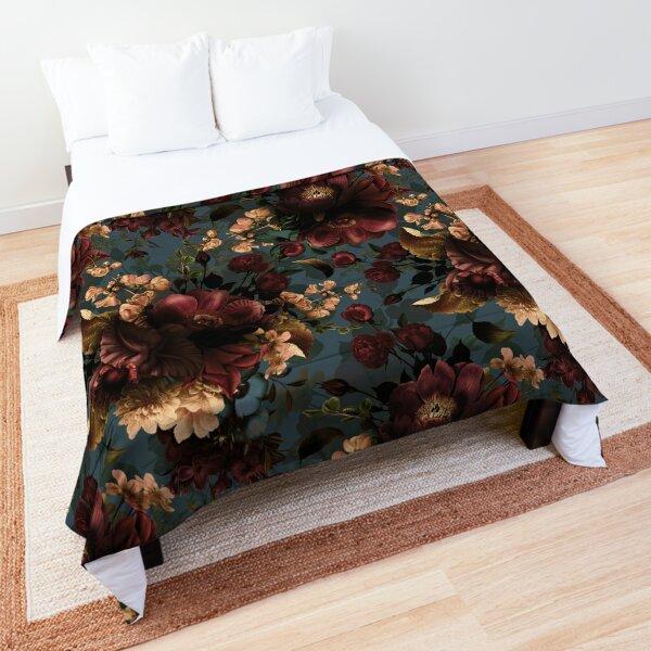 Moody florals - Mystic Night 10 Comforter