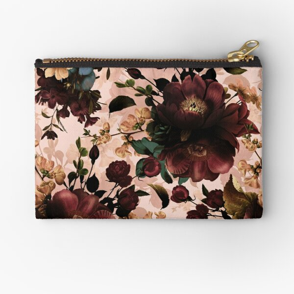 Moody florals - Mystic Night 11 Zipper Pouch