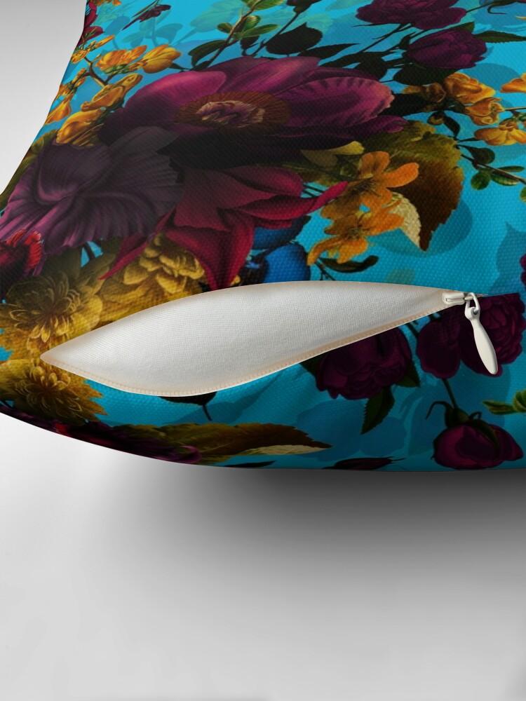 Alternate view of Moody florals - Mystic Night 13 Floor Pillow