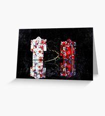 origami kimonos Greeting Card