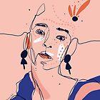 Peach ethnic portrait by morganeguedj