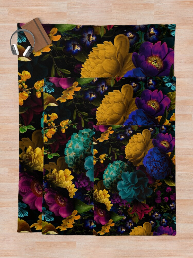 Alternate view of Mystical night II Throw Blanket