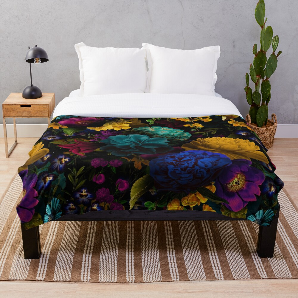 Mystical night II Throw Blanket
