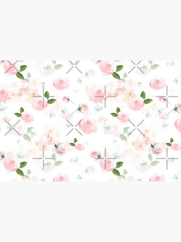 Blush Watercolor Florals by UtArt