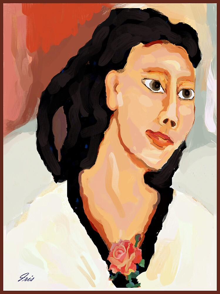 A portiat of a woman by irisgrover