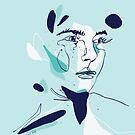 Freckles portrait by morganeguedj