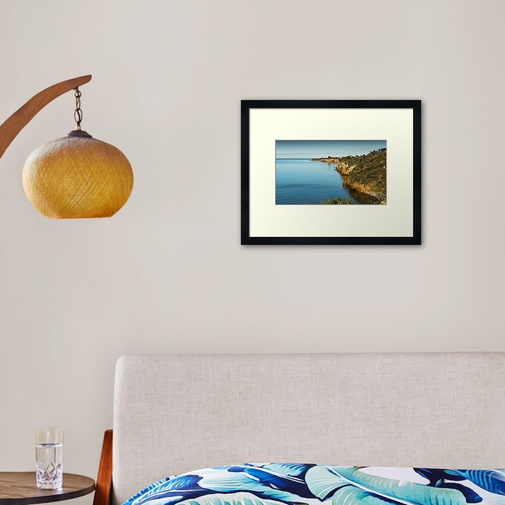 Beaumaris Cliffs 2 Framed Art Print