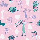 Naomi - Floral - Confetti - Repeat Pattern by emshannonart