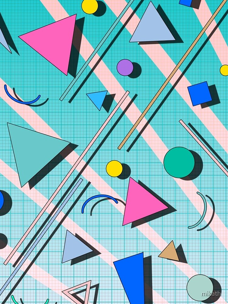 80s pop retro pattern 4 by mikath