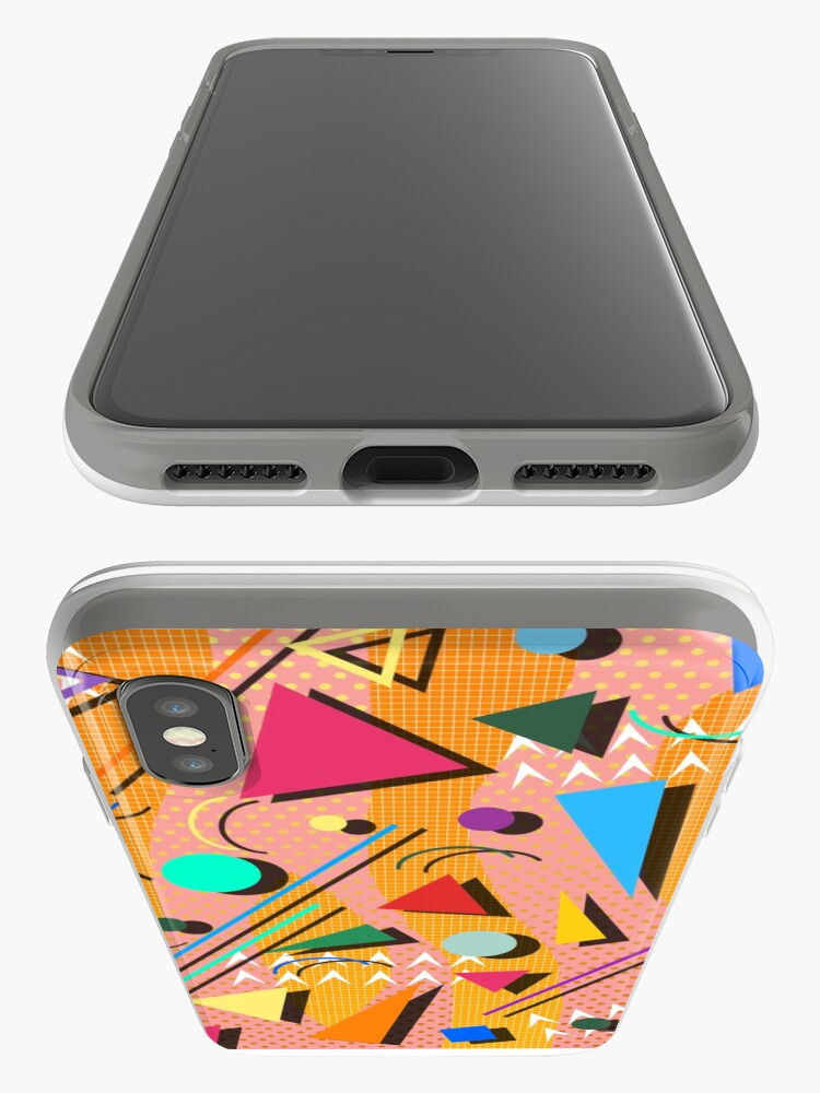 Alternate view of 80s pop retro pattern iPhone Cases & Covers