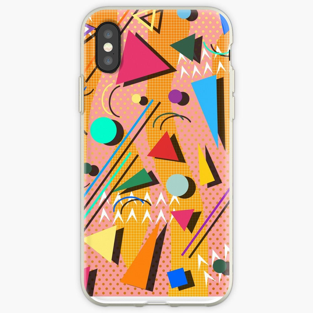 80s pop retro pattern iPhone Cases & Covers