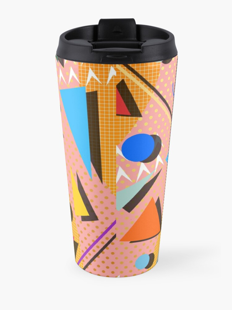 Alternate view of 80s pop retro pattern Travel Mug