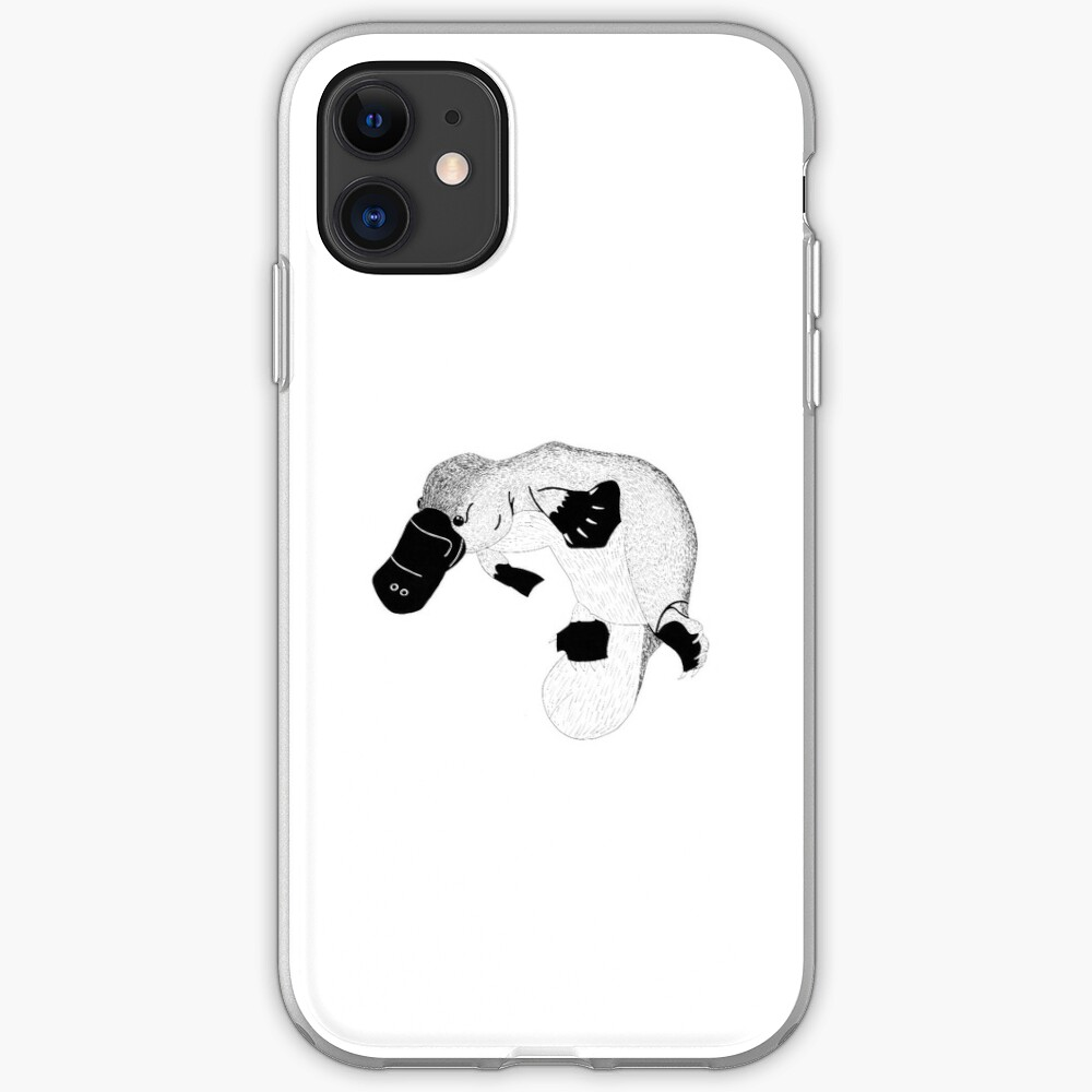 Platypus (ink illustrations of weird animals that are real) iPhone Soft Case