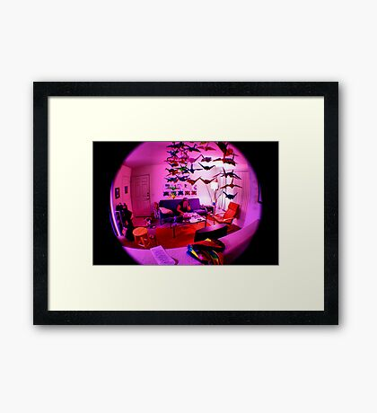 pink bubble Framed Print