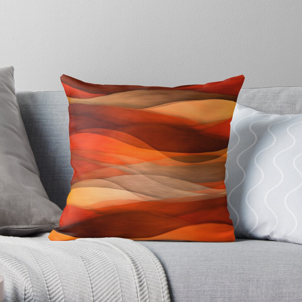 Sea of sand and caramel waves Throw Pillow