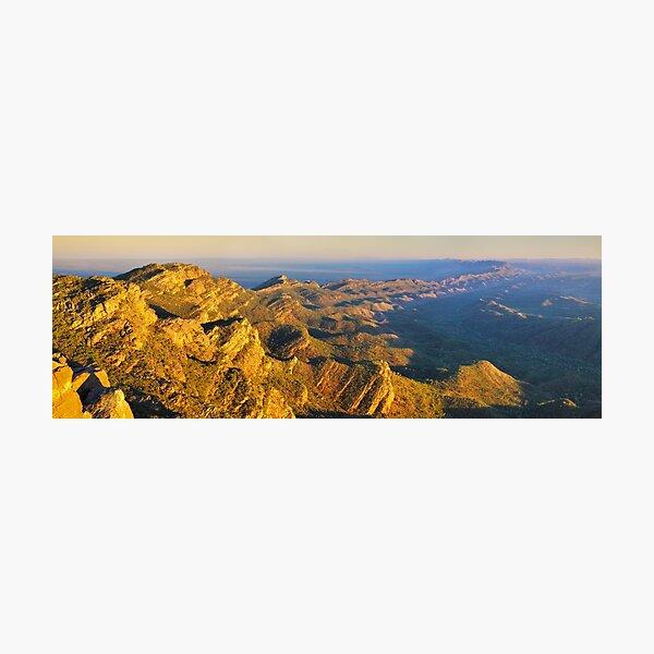 Sunrise from St Marys Peak, Flinders Ranges, South Australia Photographic Print