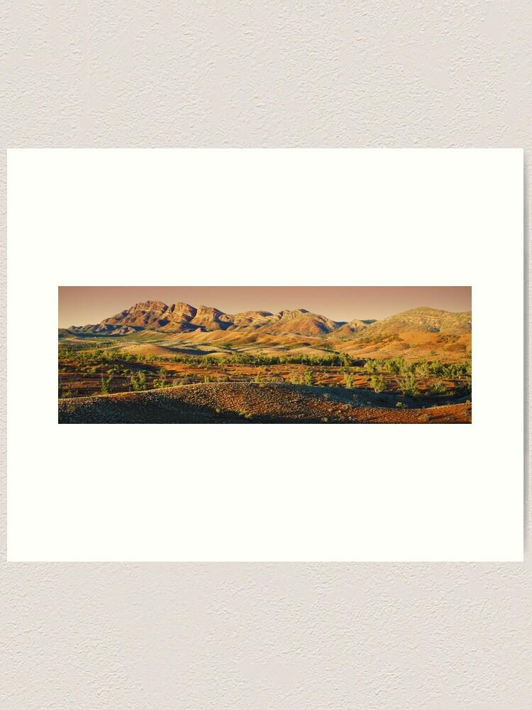 Alternate view of Elder Range, Flinders Ranges, South Australia Art Print