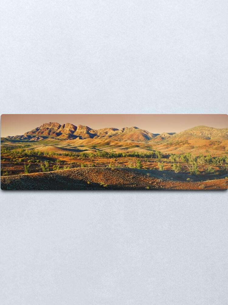 Alternate view of Elder Range, Flinders Ranges, South Australia Metal Print