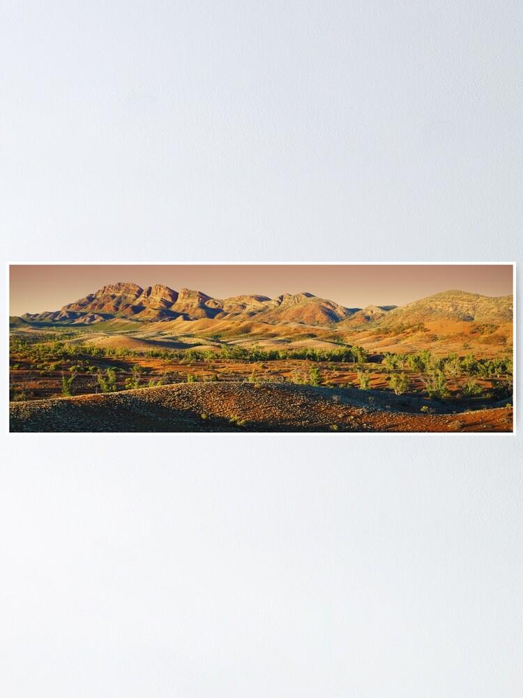 Alternate view of Elder Range, Flinders Ranges, South Australia Poster