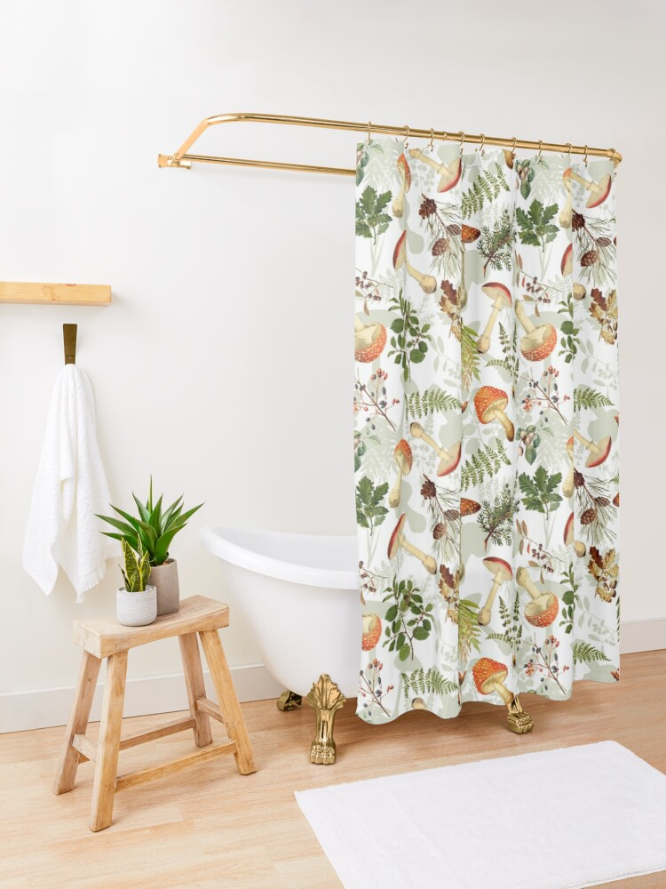 Alternate view of Thanksgiving Harvest  - Don't eat them Shower Curtain