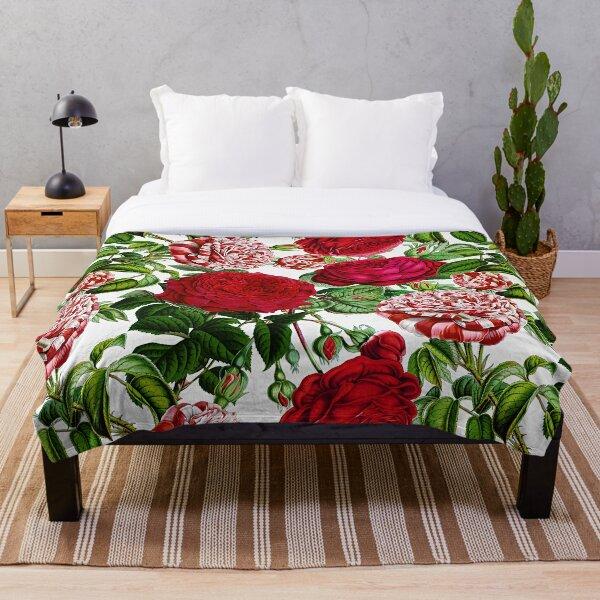 Summer Roses Throw Blanket