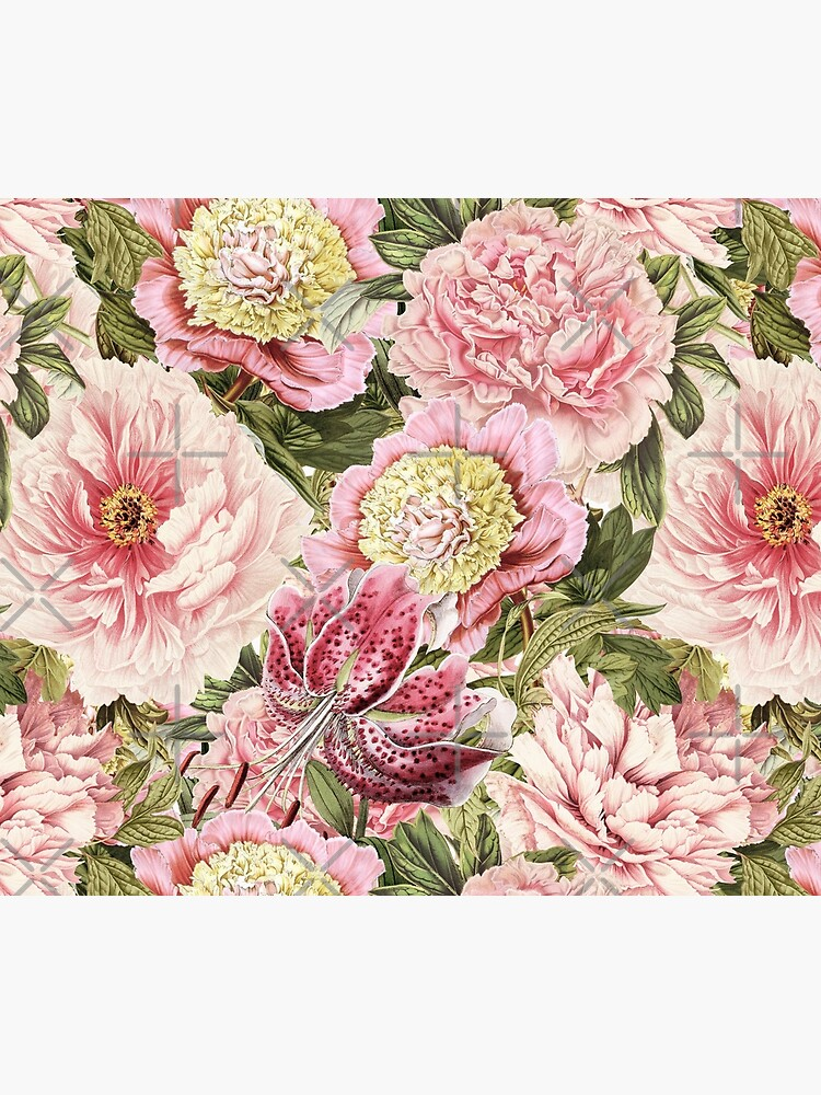 Vintage Roses and Lily Pattern by UtArt