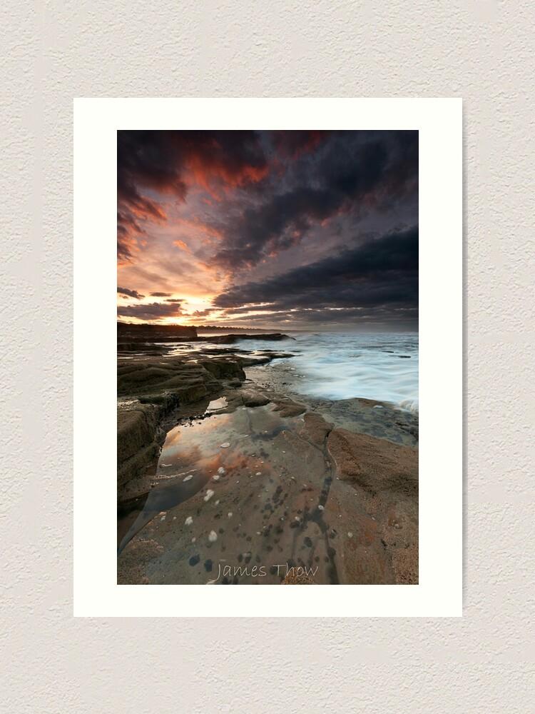 Alternate view of Sluice sunset Art Print