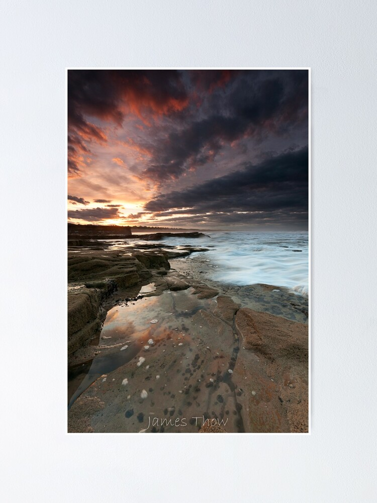 Alternate view of Sluice sunset Poster