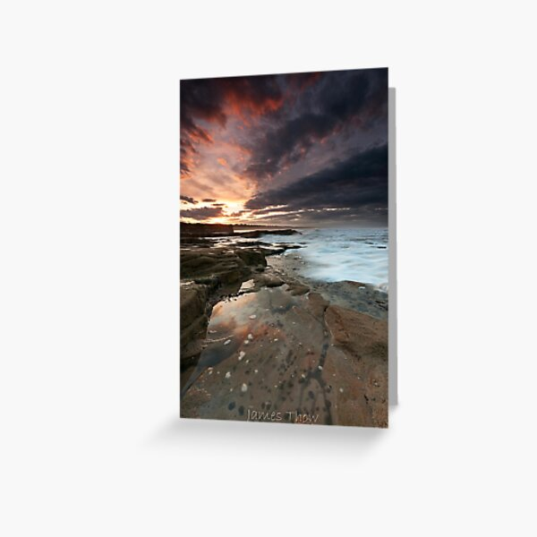 Sluice sunset Greeting Card