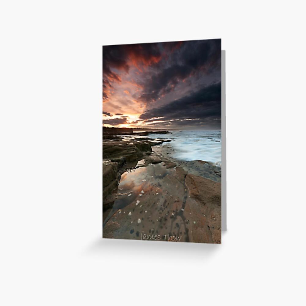 Sluice sunset Greeting Card