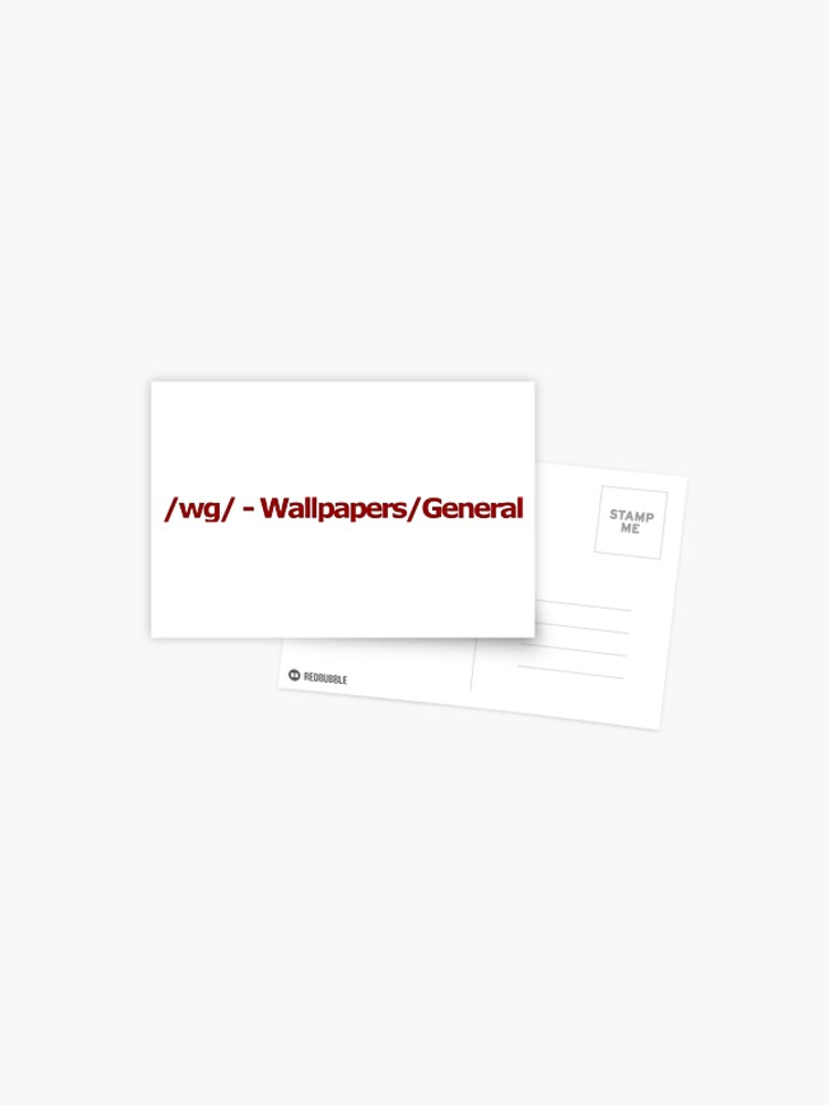Wg Wallpapers General 4chan Logo Postcard By Flandresbowler Redbubble