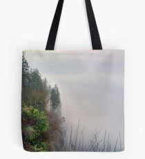 Foggy Cliff Tote Bag