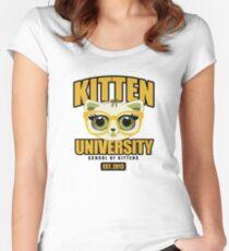 Kitten University - Yellow Women's Fitted Scoop T-Shirt