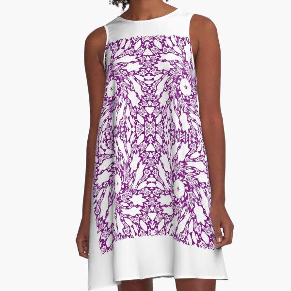 OpArt, Visual Illusion, VisualArt, OpticalArt, #OpticalIllusion, #OpticalIllusionArt, #OpticalArtIllusion, #PsyhodelicArt A-Line Dress