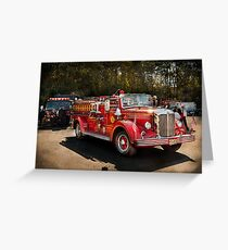 Fireman - The Procession  Greeting Card