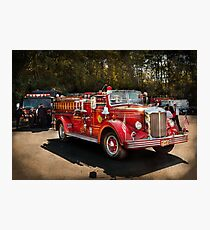 Fireman - The Procession  Photographic Print