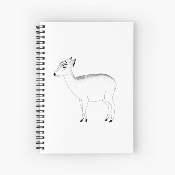 Water Deer (ink illustrations of weird animals that are real) Spiral Notebook